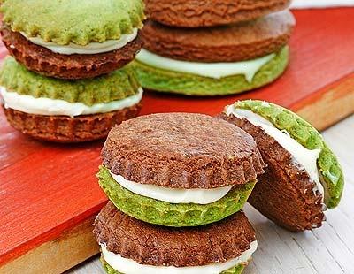 Galletas de té verde y chocolate
