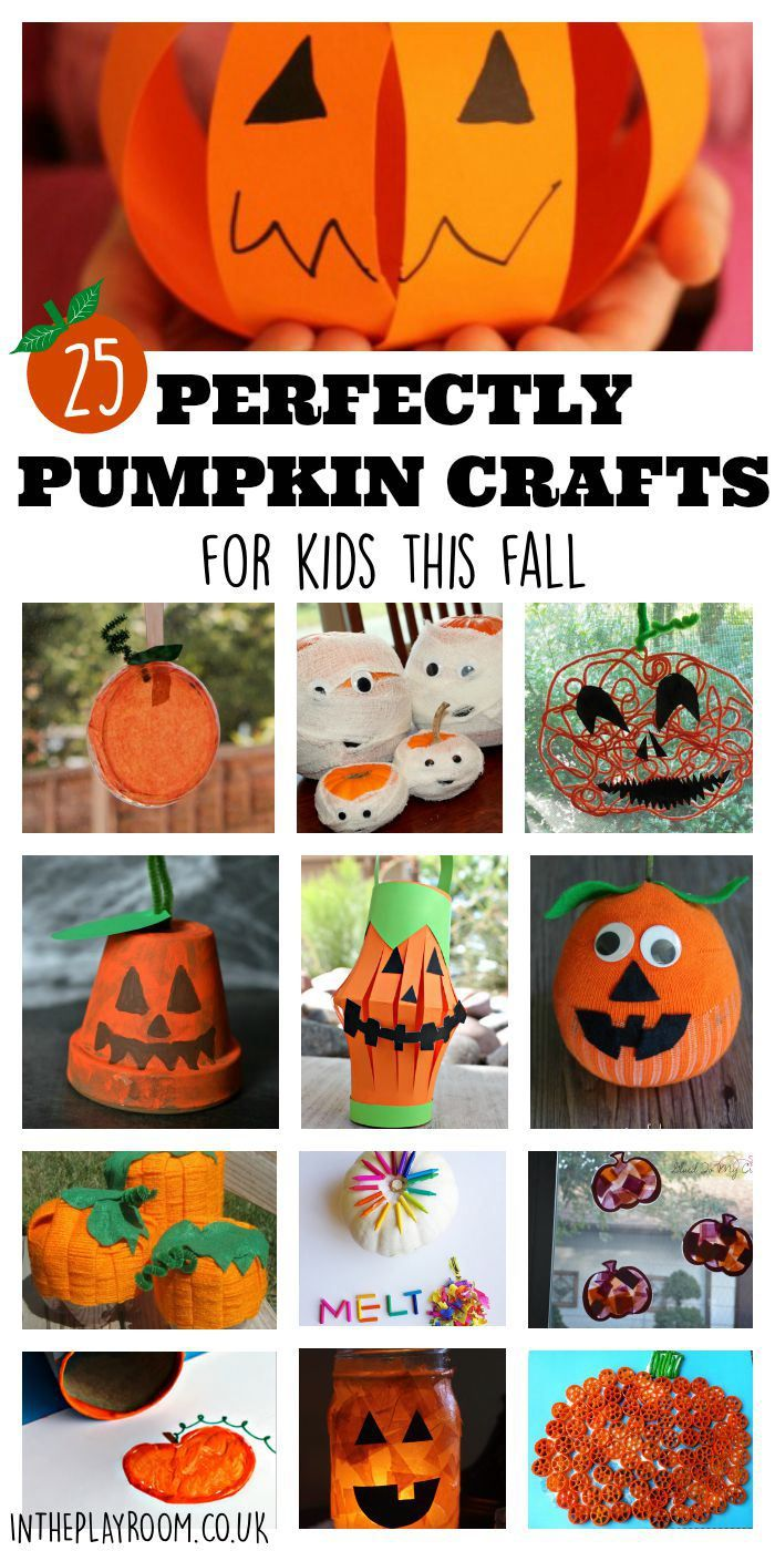 25 perfectly pumpkin crafts for kids this fall. These ideas are so cute for Autumn and Halloween