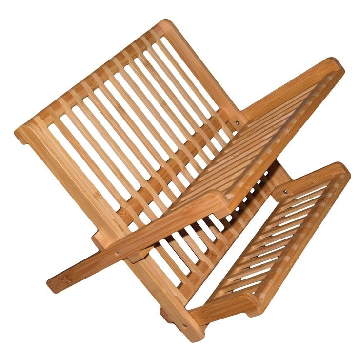 Better Chef 16 Inch All Eco-Friendly Bamboo Dish Rack