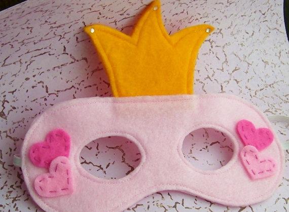 Pretty Pink Princess Felt Mask by Spitfireshortie on Etsy, $9.00