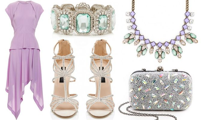 Spring Wedding - dress up a more casual outfit with jeweled shoes etc