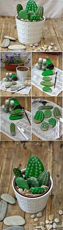 Hem Grönt Skönt: Rolig idé - kaktusstenar