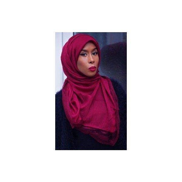Basma K - Black and Burgundy Hijab - Hashtag Hijab | Hijab Fashion |... ❤ liked on Polyvore featuring jewelry