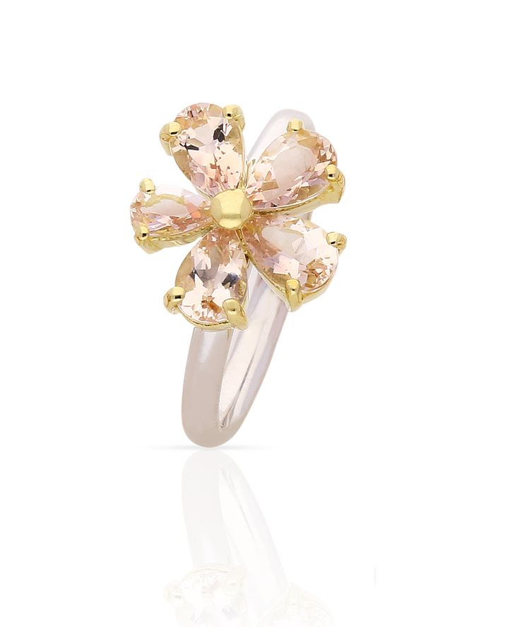 Magical Morganite daisy ring. Jenna Clifford Designs | Specials › Love Me Daisy Collection