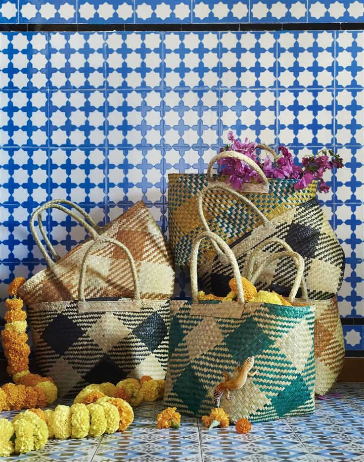 Off to market? JASSA's handwoven baskets are made of 100% natural materials. Just what you need! #IKEAcollections #BASKET #JASSA