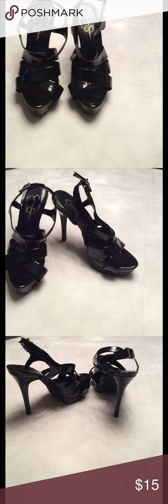 Black patent high heel Back patent high heel. 5 inch heel. Size 10B Jessica Simpson Shoes Heels