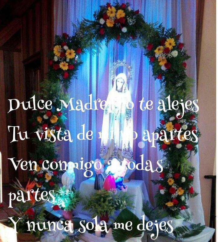 Contigo voy Virgen pura Y en tu poder voy confiada
