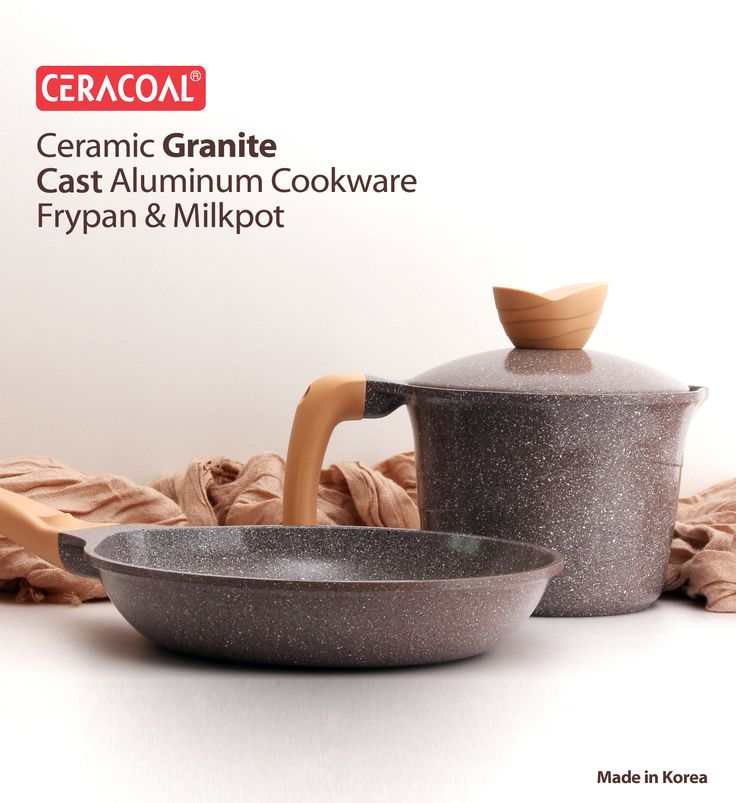 CERACOAL COOKWARE - Frypan & Milkpot