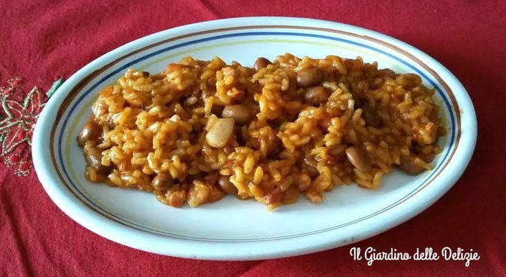 Riso+pancetta+e+borlotti