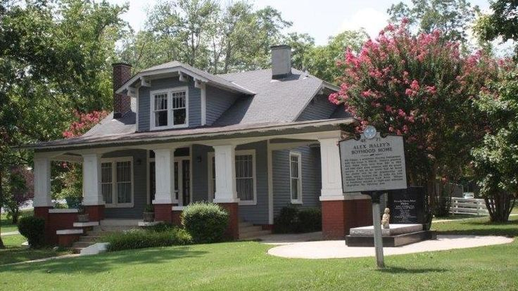 Originally known as the Palmer House, this ten-room, bungalow style home was constructed in 1918 and 1919 by Will E. Palmer, the maternal grandfather of Alex Haley (1921-1992). From 1921 to 1929, and during some subsequent summers, Alex Haley lived here with his grandparents, Will and Cynthia Palmer.