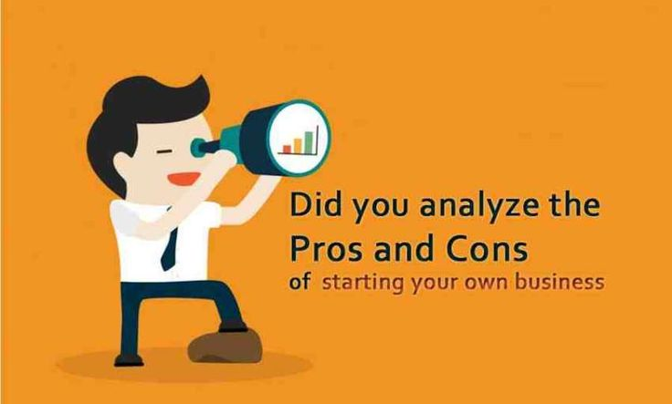 Did you analyze the advantages and disadvantages of starting a business?