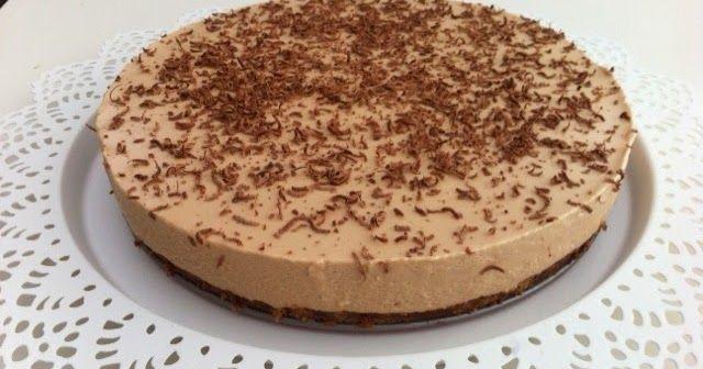 Nougat cheesecake på en chokolade-kiksebund