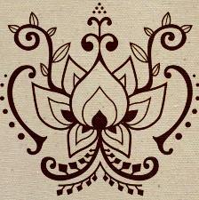 Sweet lotus flower design.