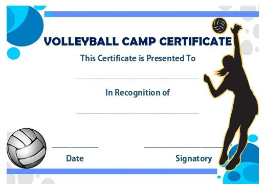 Volleyball certificate yeniscale volleyball certificate yelopaper Gallery