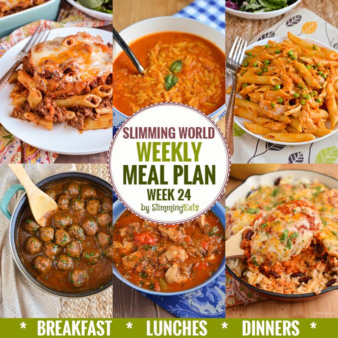Slimming Eats Weekly Meal Plan - Week 24 - Slimming World - taking the work out of planning so that you can just cook and enjoy the food.