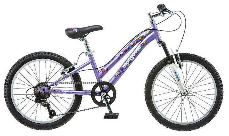 Girls 20 inch Mongoose Stylus Bike - Purple
