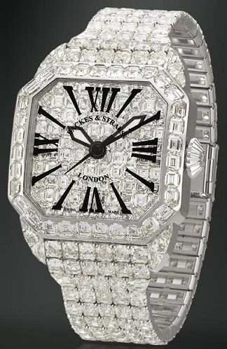 Cartier Diamond Watch.  Vulgar beyond belief - can see an Italian mafioso wearing this.  Give me the cash and I'l pay my off my mortgage.
