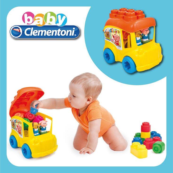 Secchiello Clemmy Scuolabus 12 pezzi #clemmy #babyclemmy #softandsafe #clementoni #clementonigiocattoli #clementonitoys #clementoniprimainfanzia #scuolabus