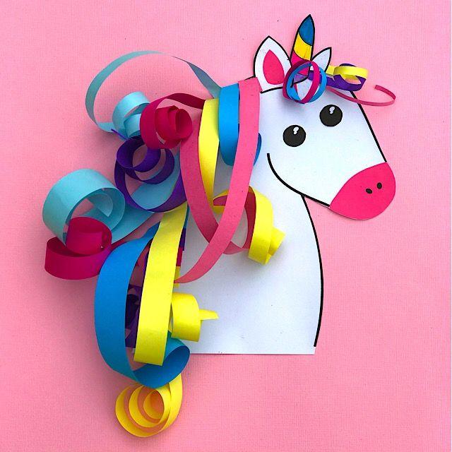Paper Unicorn Make Film Play Unicorn Crafts Preschool Crafts Animal Crafts For Kids
