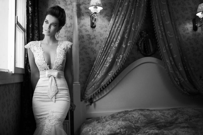 Elegant Corset Dress with Sheer Lace Panels at Waist. I need this dress. Lol :)