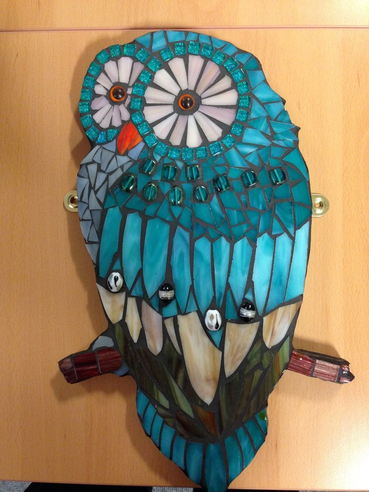 Owl mosaic in turquoise                                                                                                                                                                                 More