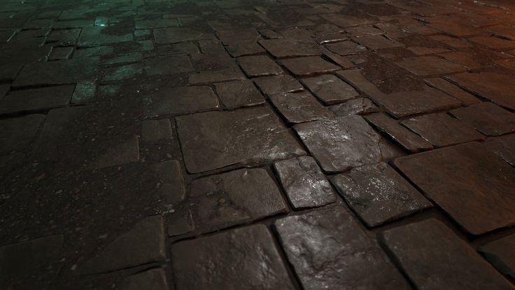 Stone FLoor, Martin Teichmann on ArtStation at https://www.artstation.com/artwork/stone-floor