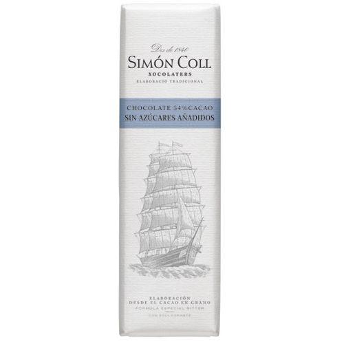 Simon Coll 18g. Ciocolata neagra 54% cacao, FARA ZAHAR ADAUGAT