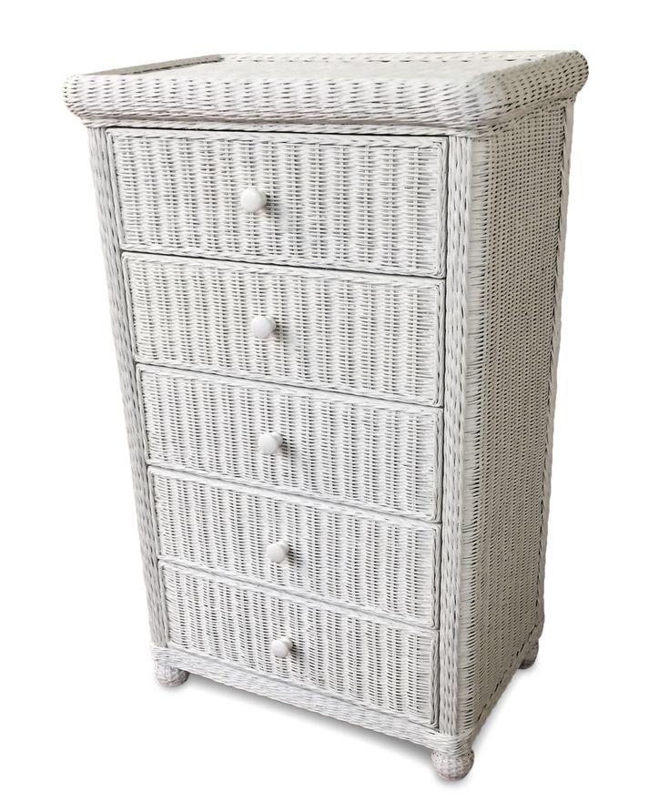 Wicker 5 Drawer Dresser - Elana | Wicker Paradise