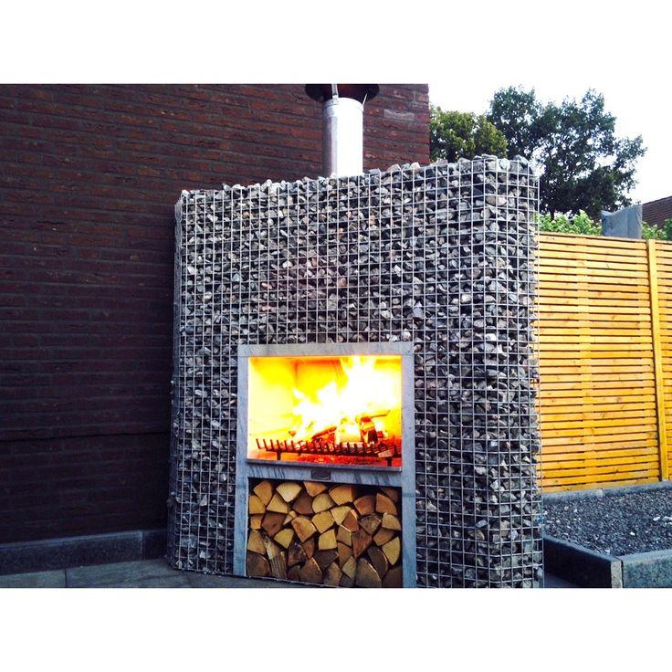 die besten 25 gabionen grill ideen auf pinterest tuin. Black Bedroom Furniture Sets. Home Design Ideas
