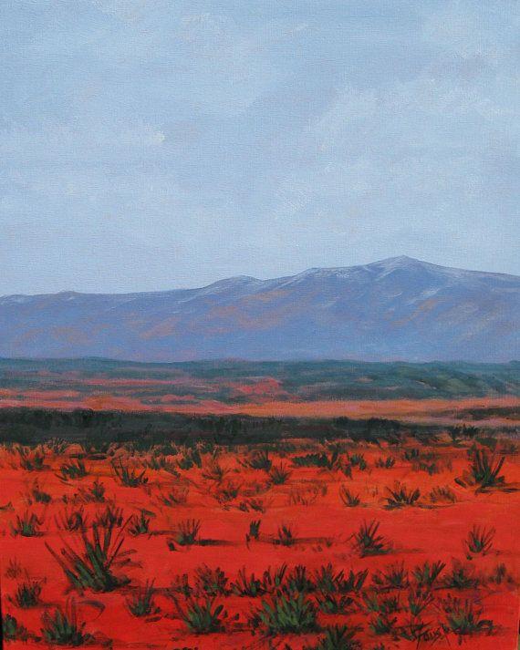 Southwestern Desert Landscape Desert Landscape Red Painting Original Landscape Foust Red Desert 24 X 30 Landscape Siding Paint Art