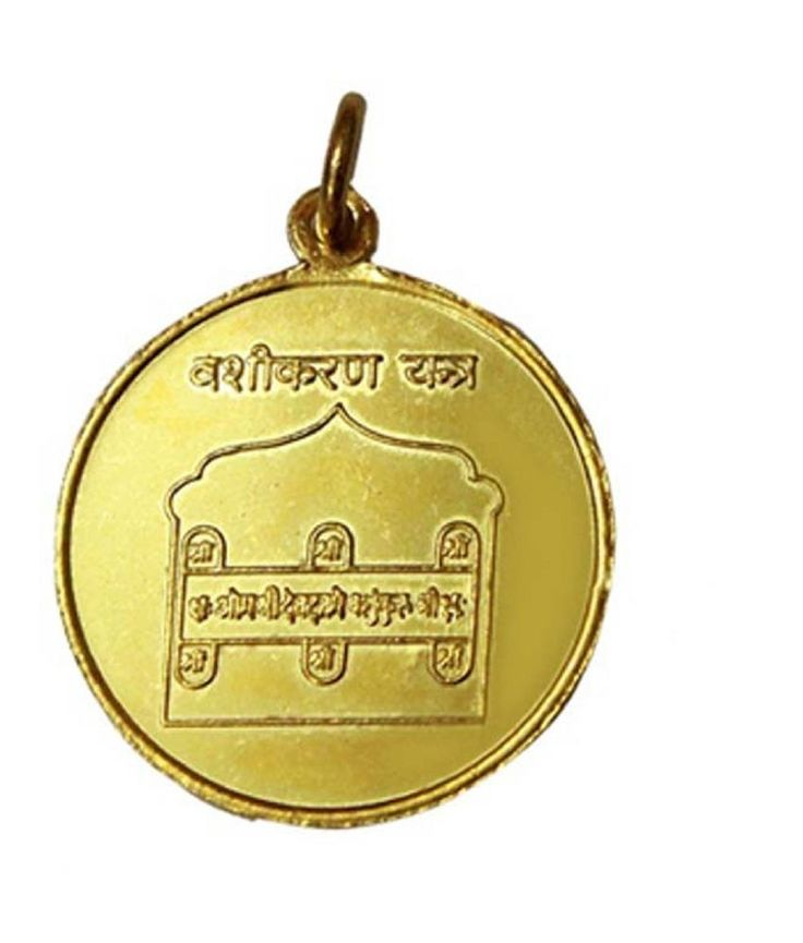 Vashikaran Yantra Pendant Copper Gold Plated Blessed And Energized Locket Charm