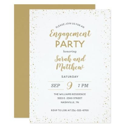 Modern Glitz Engagement Party Invitation - wedding invitations cards custom invitation card design marriage party