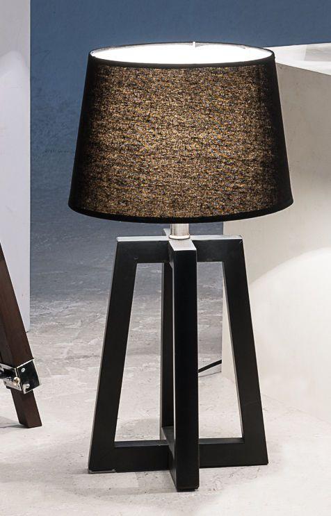 Superb Tischlampe Stehlampe Nachttischlampe Leselampe Schreibtisch lampe schwarz Holz