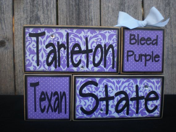 Hey, I found this really awesome Etsy listing at https://www.etsy.com/listing/93399922/wooden-blocks-tarleton-state-texan
