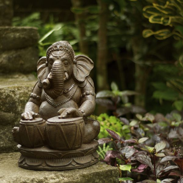 Amazing Volcanic Ash Tabla Ganesha Garden Statue Stone Washed Made From Crushed  Basalt, This Reproduction Will Look Magnificent In Your Garden Or Simply In  A ...