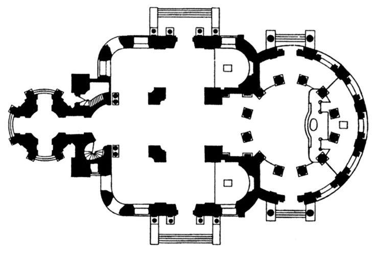 О.Бове. План церкви Всех Скорбящих Радости на Б. Ордынке, 1832