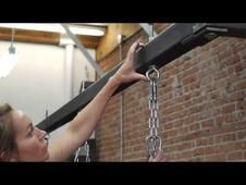 Heavy punching bags are generally 80 to 100 pounds. Find out about the proper equipment needed to hang a heavy punching bag with help from a current Olympic-certified boxing trainer, fitness expert and speaker in this free video clip.