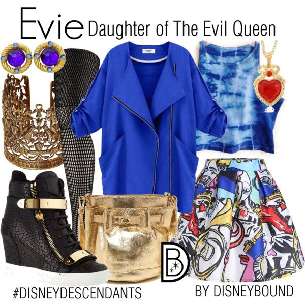 Evie: Daughter of The Evil Queen by leslieakay on Polyvore featuring Wolford, Giuseppe Zanotti, Letizia, Sara Bencini, disney, disneybound, disneycharacter and disneydescendants