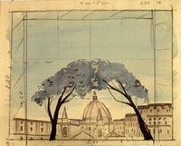 """Scenery design  for the staging of """"A House of Cards"""",  1953"""