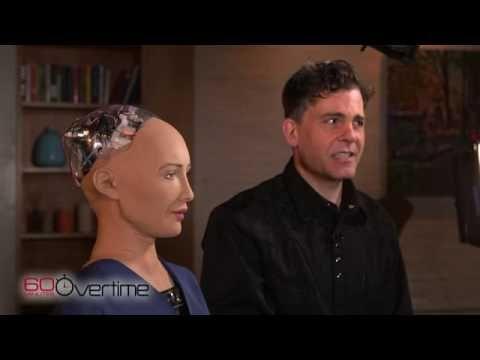 CREEPY VIDEO - Charlie Rose Interviews a Robot !!!!! Meet Sophia the Artificial intelligent Robot