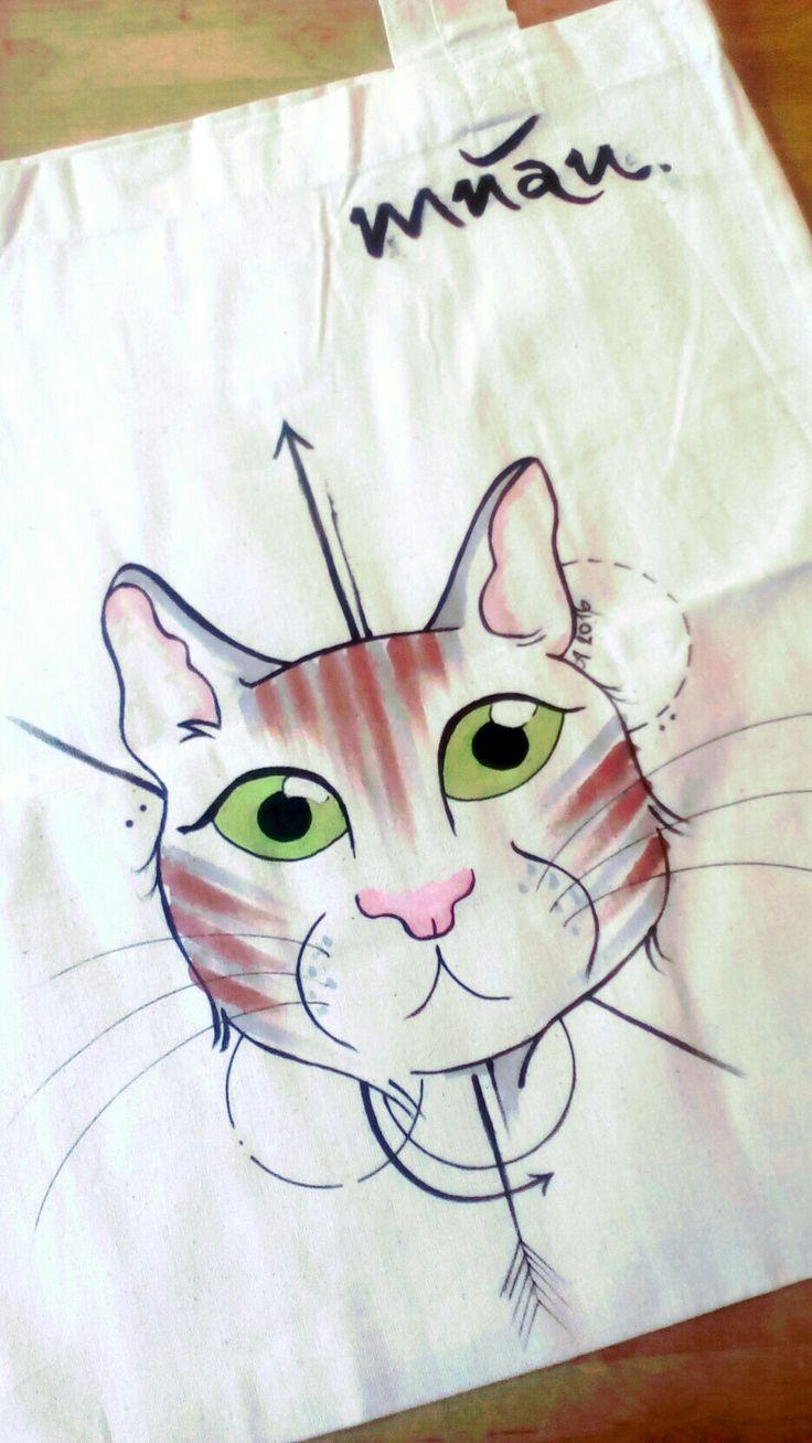 Cloth bag cat