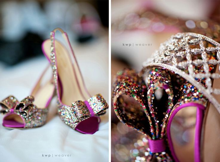 Purple glowy heels