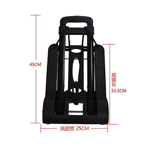 SOGAR Multi-function Overstriking Version Folding Cart with 4 Wheels Shopping Trolley