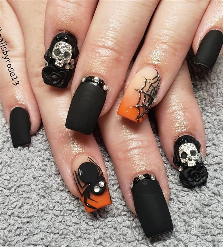 100+ Easy and Cool Halloween Nails Design Ideas for 2019 ...
