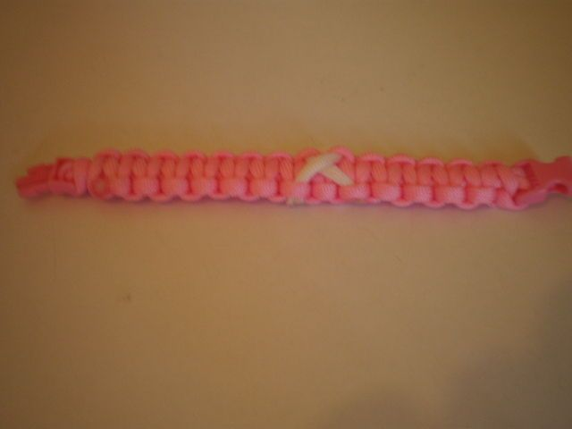 Breast Cancer Aware Paracord Bracelets And Key rings Pink And White