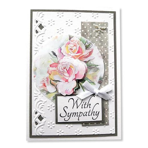 Marianne Design Clear Stamps - With Sympathy Text CS0928