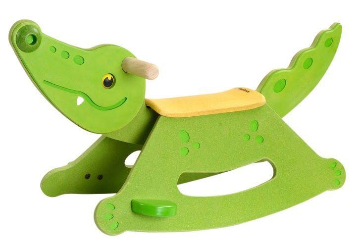 Drewniany bujaczek Aligator