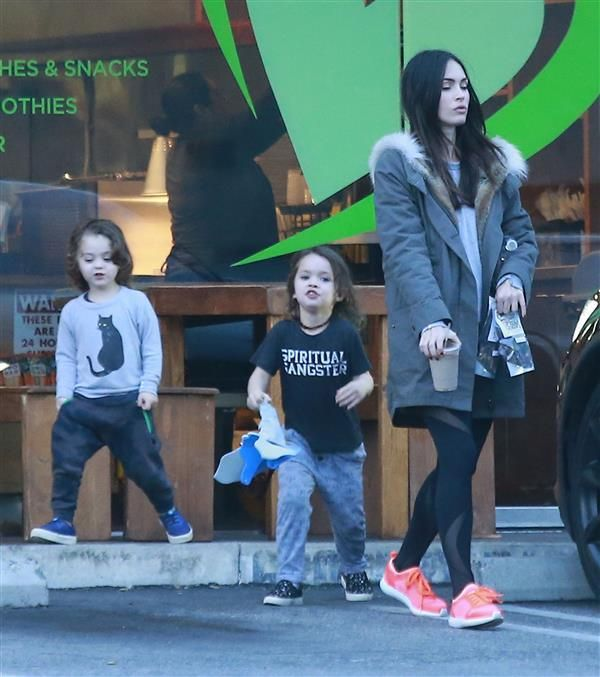 Megan Fox and husband Brian Austin Green took their two older sons, Bodhi and Noah, out for a snack in Los Angeles' Los Feliz neighborhood on Jan. 21.