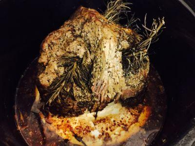 Slow Cooked Boneless Leg of Lamb