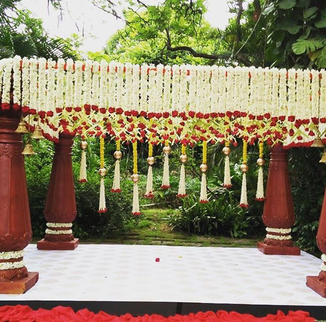 Flowers work in Indian Wedding organized by one of the best wedding planners, 3production weddings
